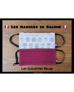 masque Chouette Prune